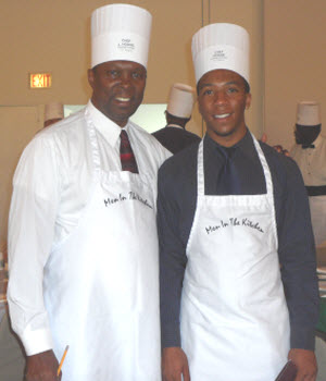 Aaron and Dad at Men In The Kitchen 09