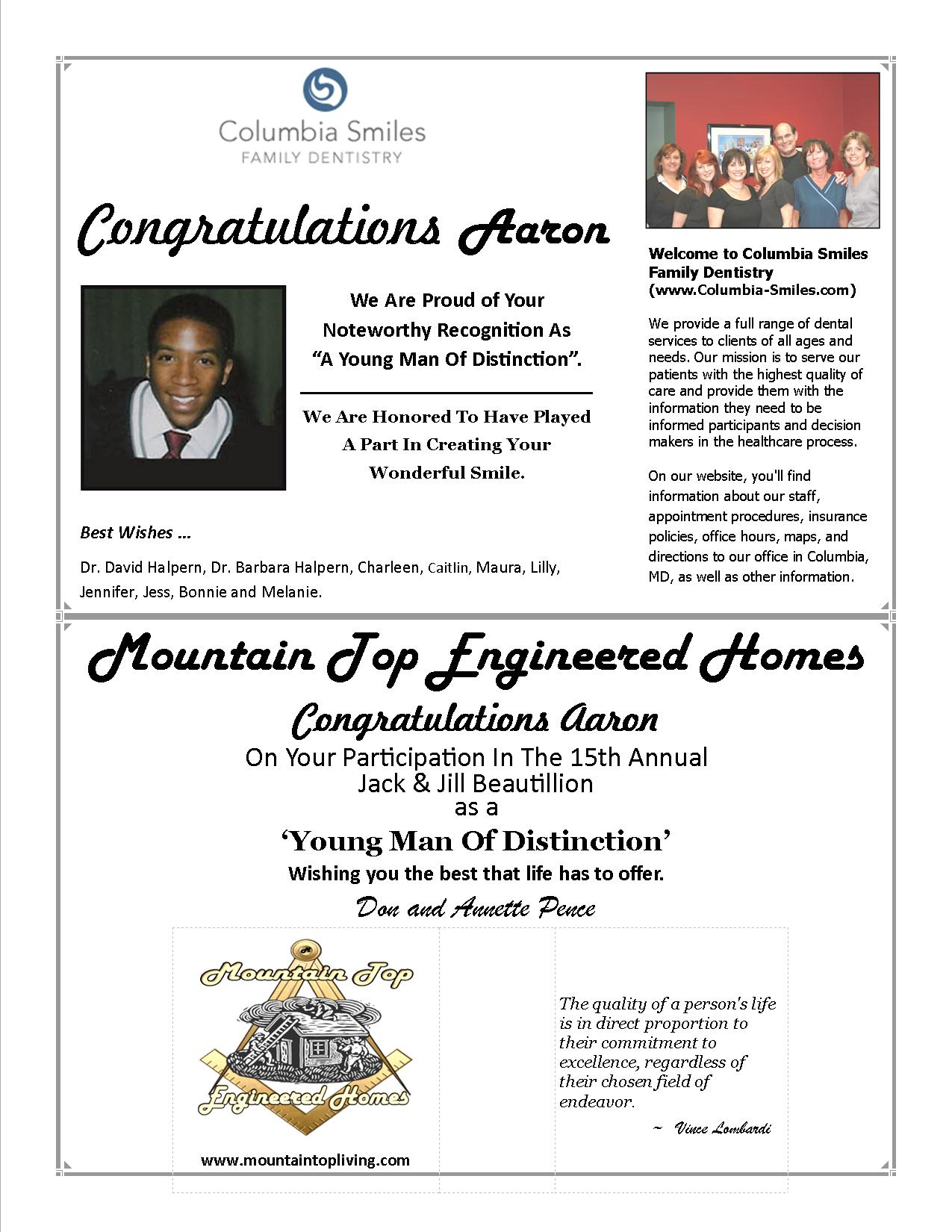 Aaron Young Man Of Distinction